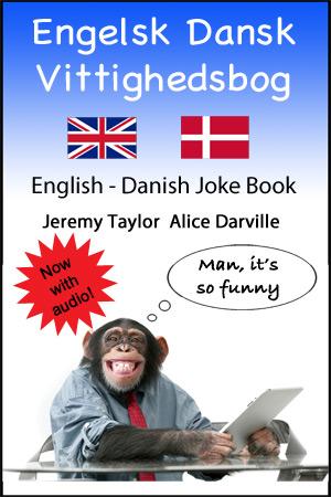 English Danish joke book cover