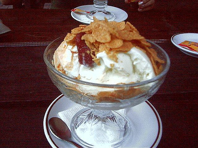 ice cream and cornflakes