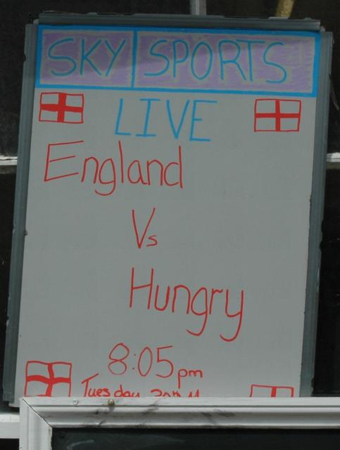 Let's hope they provide snacks for people who get hungary during the match.