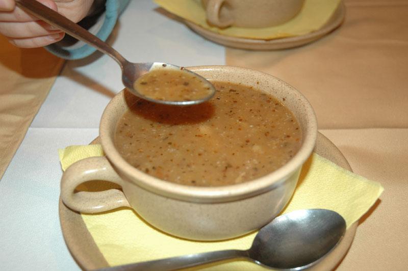 Czech tripe soup
