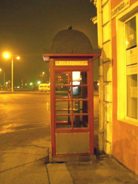 Lithuania telephone box